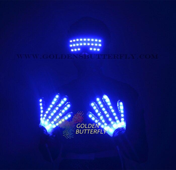LED Прихватки для мангала одежда высвечиваться Очки Новинка 2017 года Костюмы DJ вечеринки реквизит Hot Dance для Мужская Мода Светящиеся Очки Прих