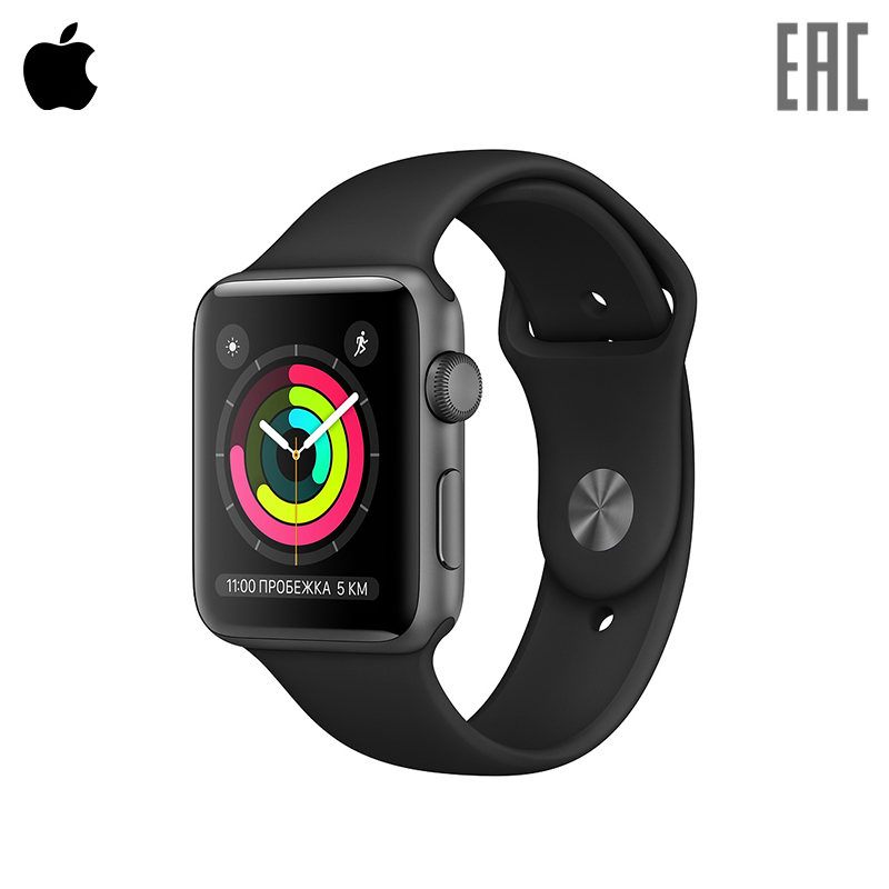 Smart watch Apple Watch Series 3 GPS 42 mm Sport Band gs8 1 3 inch bluetooth smart watch sport wristwatch with gps heart rate monitor pedometer support sim card for ios android phone
