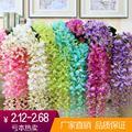 Decorações de casamento flor artificial flor de plástico flor folha videira glicínias cana agrião flor atacado 12 peças/pacote