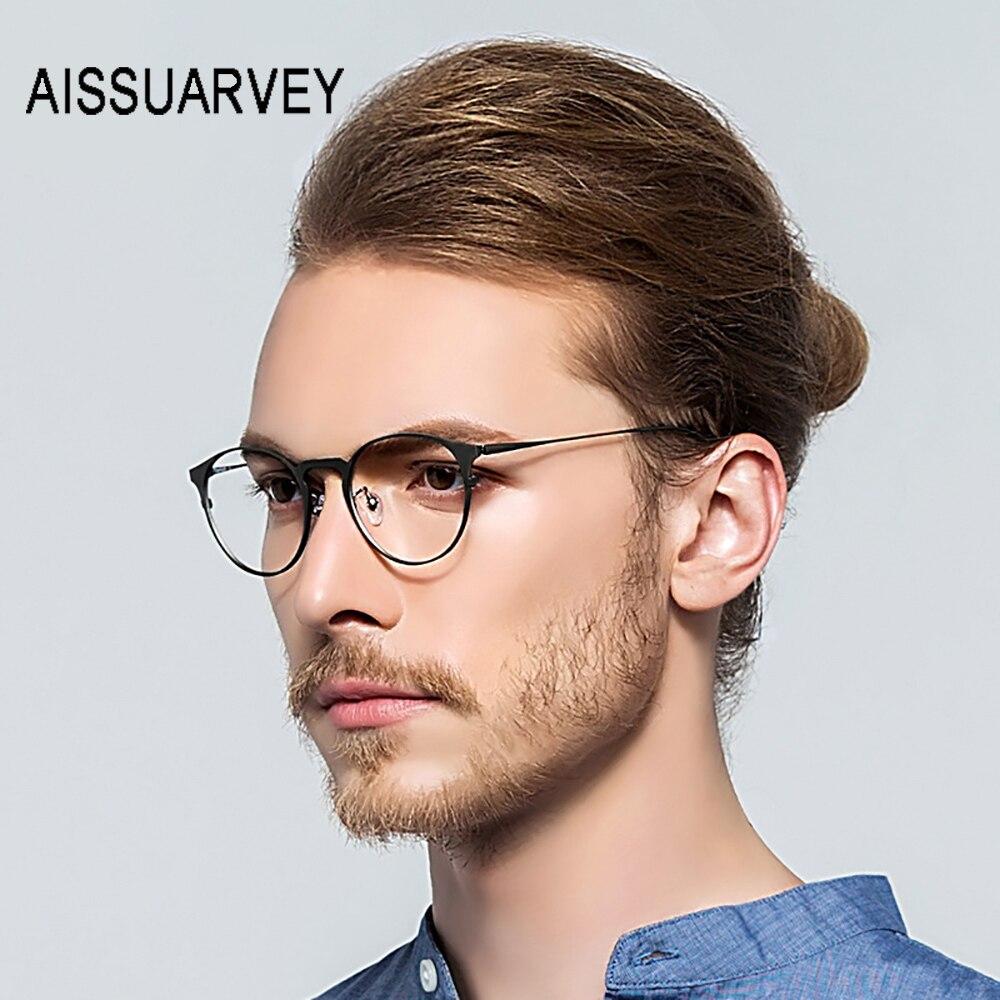 Titane pur lunettes cadre hommes femmes optique ronde Ultra-léger lunettes Prescription marque conception lunettes Top qualité lunettes
