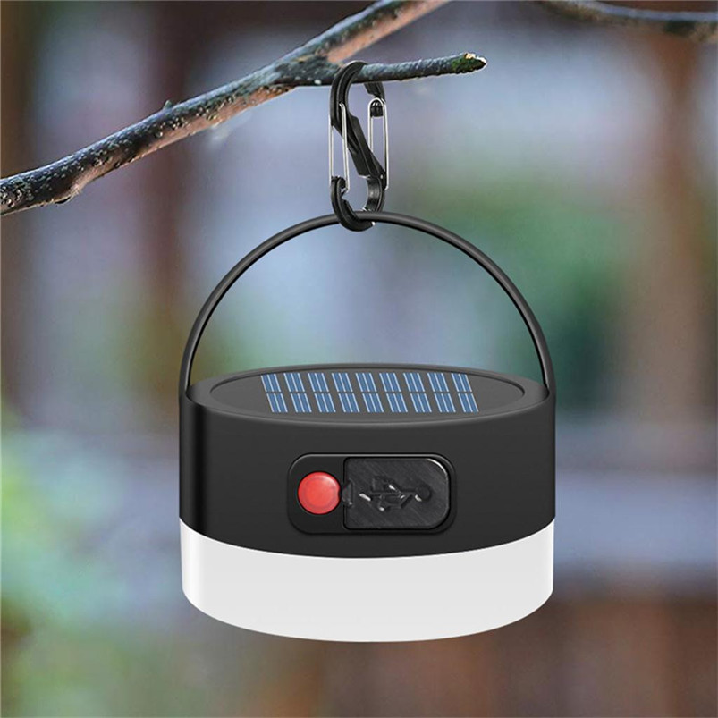 Multi-function Solar Portable Led Camping Lantern 4 Lighting Modes Lights Outdoor USB White Light Lamparas 40JUN602