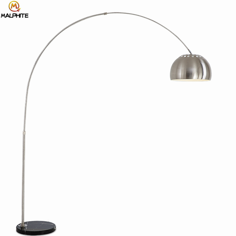 Us 117 0 20 Off Nordic Black Marble Standing Lamp Fishing Led Floor Lamps For Living Room Bedroom Stand Light Deco Lighting Fixtures In