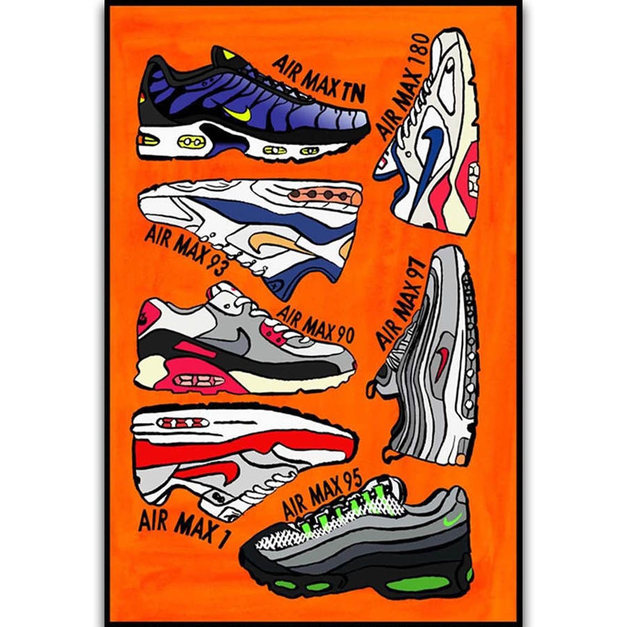 5c5335021833c9 S2779 Air Max Series Shoes Sneaker Fashion History Wall Art Painting Print  On Silk Canvas Poster Home Decoration