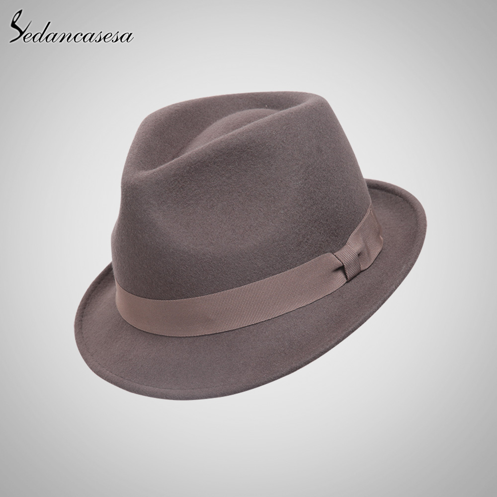 d78261acfe4a1 Classic Trilby Hat Male Fedora Hat with 100% Australian Wool Men Hat ...