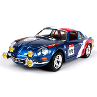 1 24 Diecast Car France Alpine A110 1600S Blue Classic Cars 1 24 Alloy Car Metal