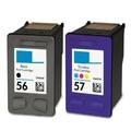 C6657a C6656A para hp cartucho de tinta de impressora para hp 56 57 hp56 hp57 Deskjet 450 450cbi 450ci 450wbt F4140 F4180 5150 5550 ... ( 1 conjunto )