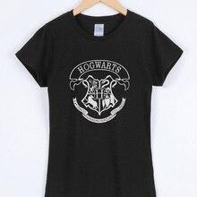 HOGWARTS Print 2019 Women T-shirts Fashion Casual Short Sleeve Tee Shir