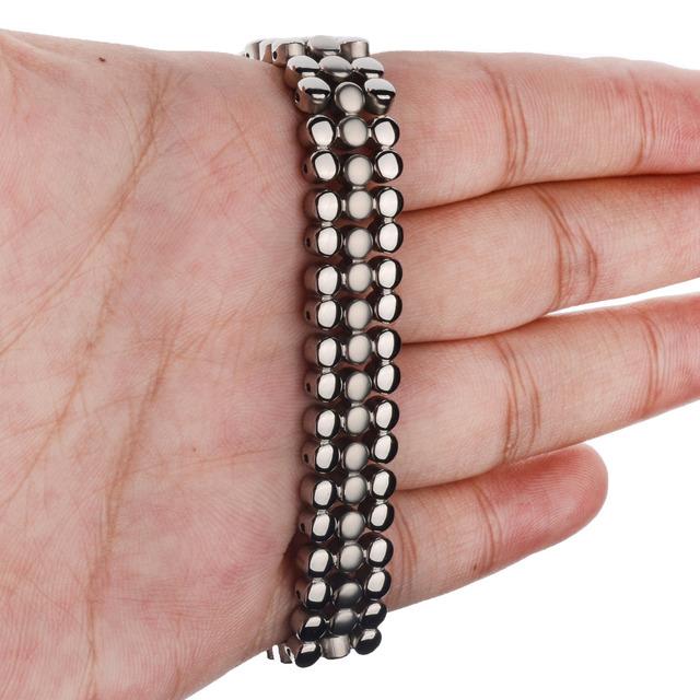 66 PCS Energy Stone 316L Stainless Steel Magnetic Bracelet