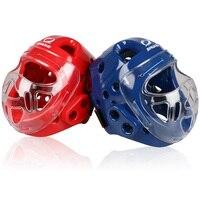 Новинка 2016 1 закрыт Тип взрослых каратэ шлем для защиты головы для тхэквондо Головные уборы конкурс обучение борьба маска на лицо шлемы