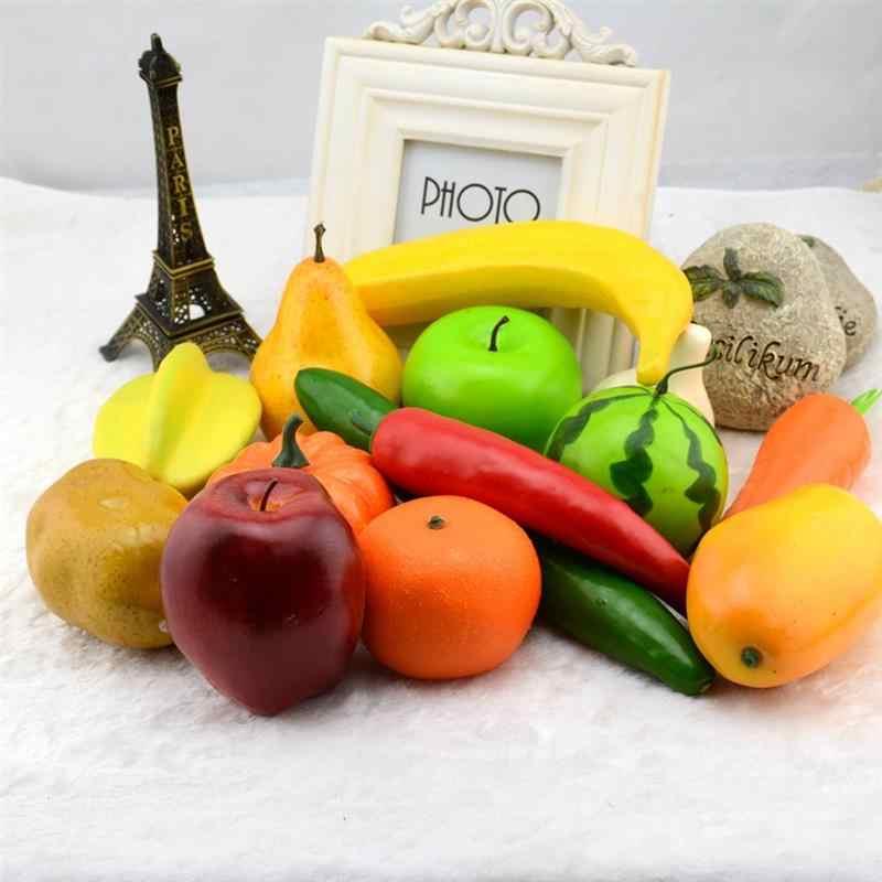 Artificial Fruit Lifelike Realistic Fake Fruits Decorative Fruits For Party  Kitchen Lemon pineapple peach strawberry apple grape