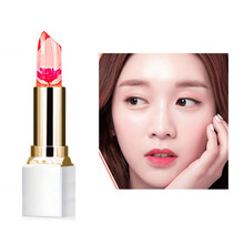 Transparent Natural Red Lip Stick Temperature Color Change Long-Lasting Moisturizer Flower Jelly Lipsticks Makeup 3#