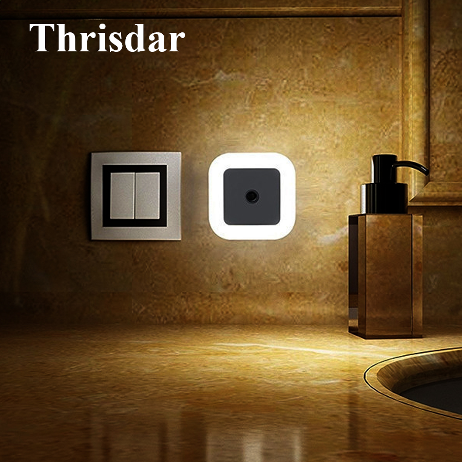 Thrisdar Novelty LED Night Light Wall Socket Lights With EU US Plug Auto Light Sensor Bedroom Bedside Baby Kids Emergency LightThrisdar Novelty LED Night Light Wall Socket Lights With EU US Plug Auto Light Sensor Bedroom Bedside Baby Kids Emergency Light