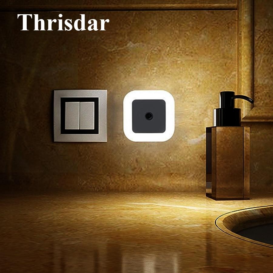 Thrisdar Novelty LED Night Light Wall Socket Lights With EU US Plug Auto Light Sensor Bedroom Bedside Baby Kids Emergency Light