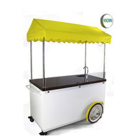 High quality fast food cart food cart for sale Outdoor mobile hand push coffee cart street food trailer