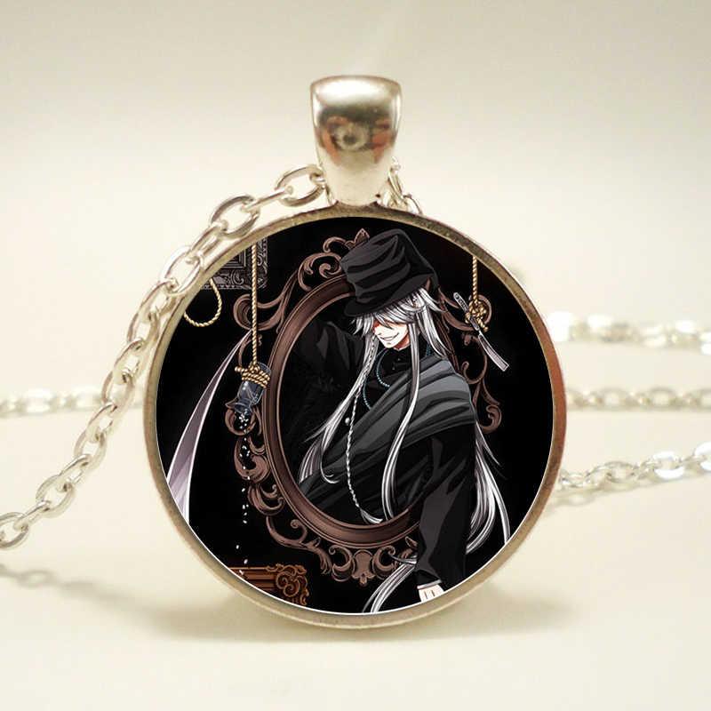 Mordomo negro Grell Kuroshitsuji Ciel Phantomhive Cúpula De Vidro do Metal Emblema Anime Mangá Fazer Colar Pingente de Presente Da Jóia