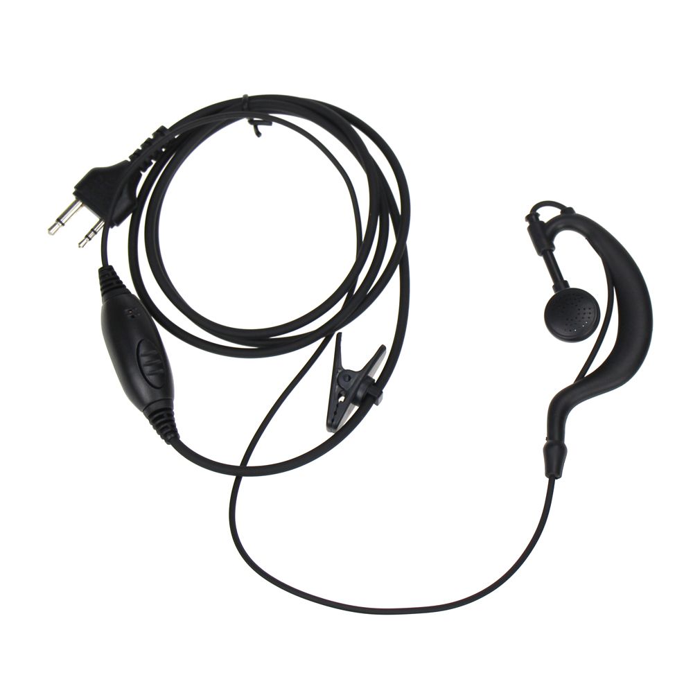 2 Pin G-Shape Earpiece Earphone Headset PTT MIC For MIDLAND Walkie Talkie G6/G7/G8/G9 GXT550 GXT650 LXT80 LXT110 LXT112 Radio