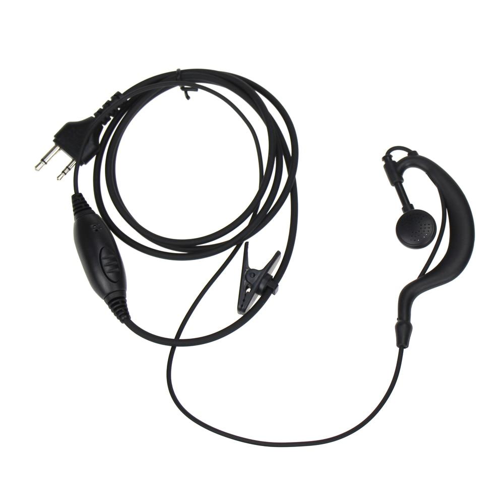2 Pin G-Shape Earpiece Earphone Headset PTT MIC For MIDLAND Walkie Talkie G6/G7/G8/G9 GXT550 GXT650 LXT80 LXT110 LXT112 Radio
