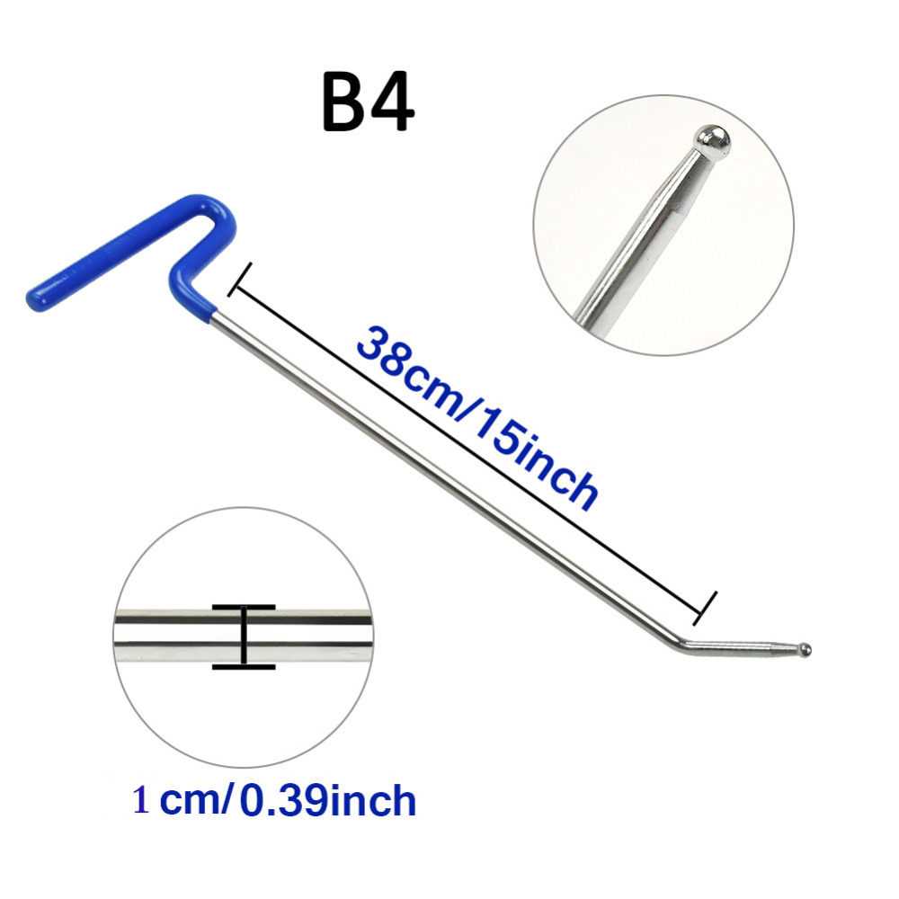 WHDZ PDR Tools 1PCS blue Spring steel Hook Rods Spring steel crowbar auto Dent repair tools+2pcs S and O ring accessorise giftsWHDZ PDR Tools 1PCS blue Spring steel Hook Rods Spring steel crowbar auto Dent repair tools+2pcs S and O ring accessorise gifts