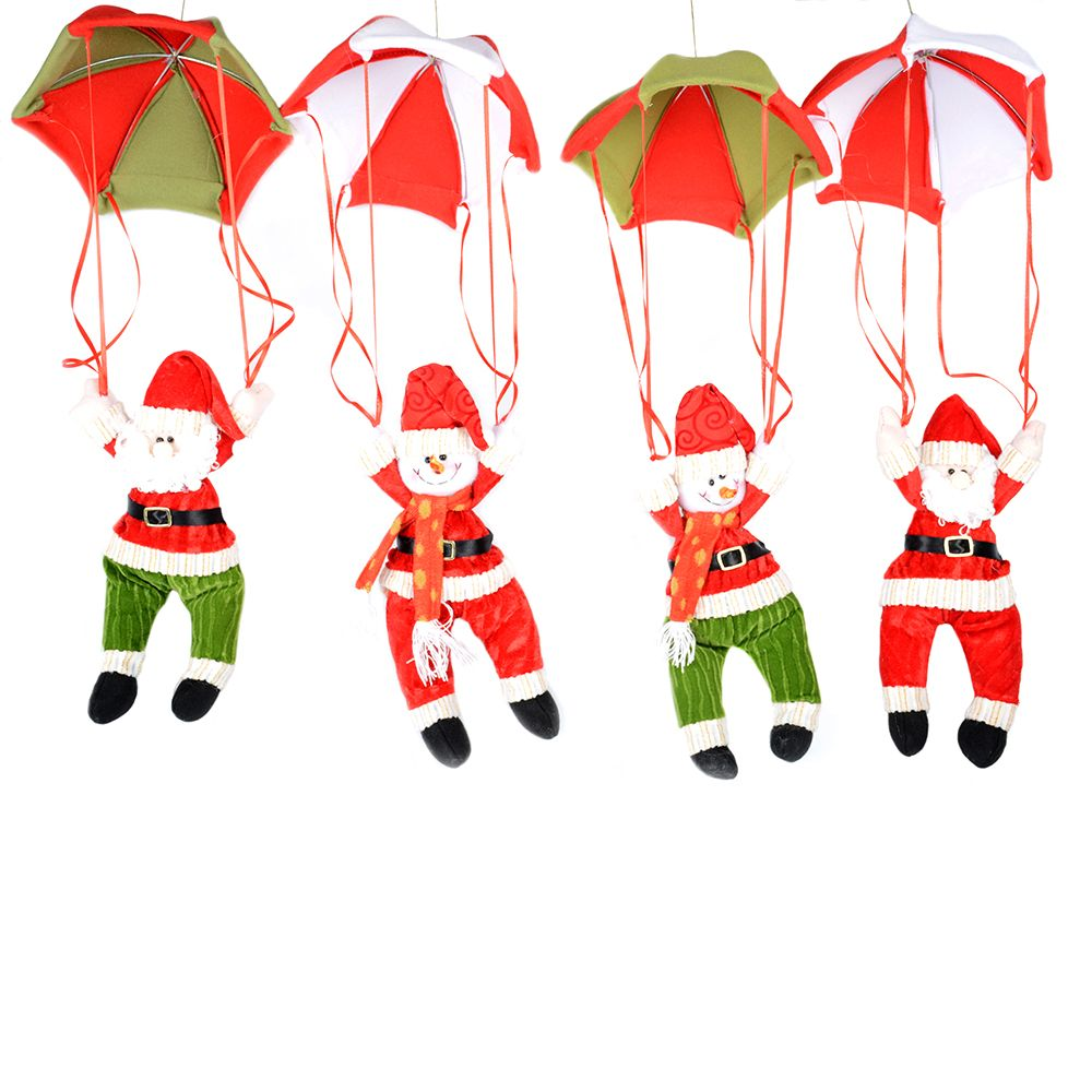 Online Shop 24cm Christmas Home Ceiling Decorations Parachute Santa Claus Smowman Hanging Pendant Decoration Supplies
