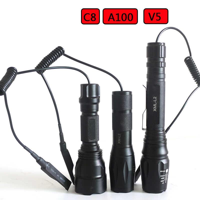 Z20 interruptor de pressão remoto para a100 v5 c8 tocha led luz tática lanterna tocha para a caça