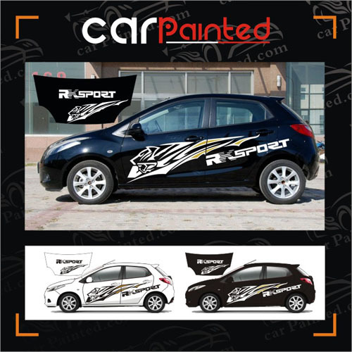Tiger totem car sticker rx sport whole car stickers abstract tiger head car decalscar paint film protection refit on aliexpress com alibaba group