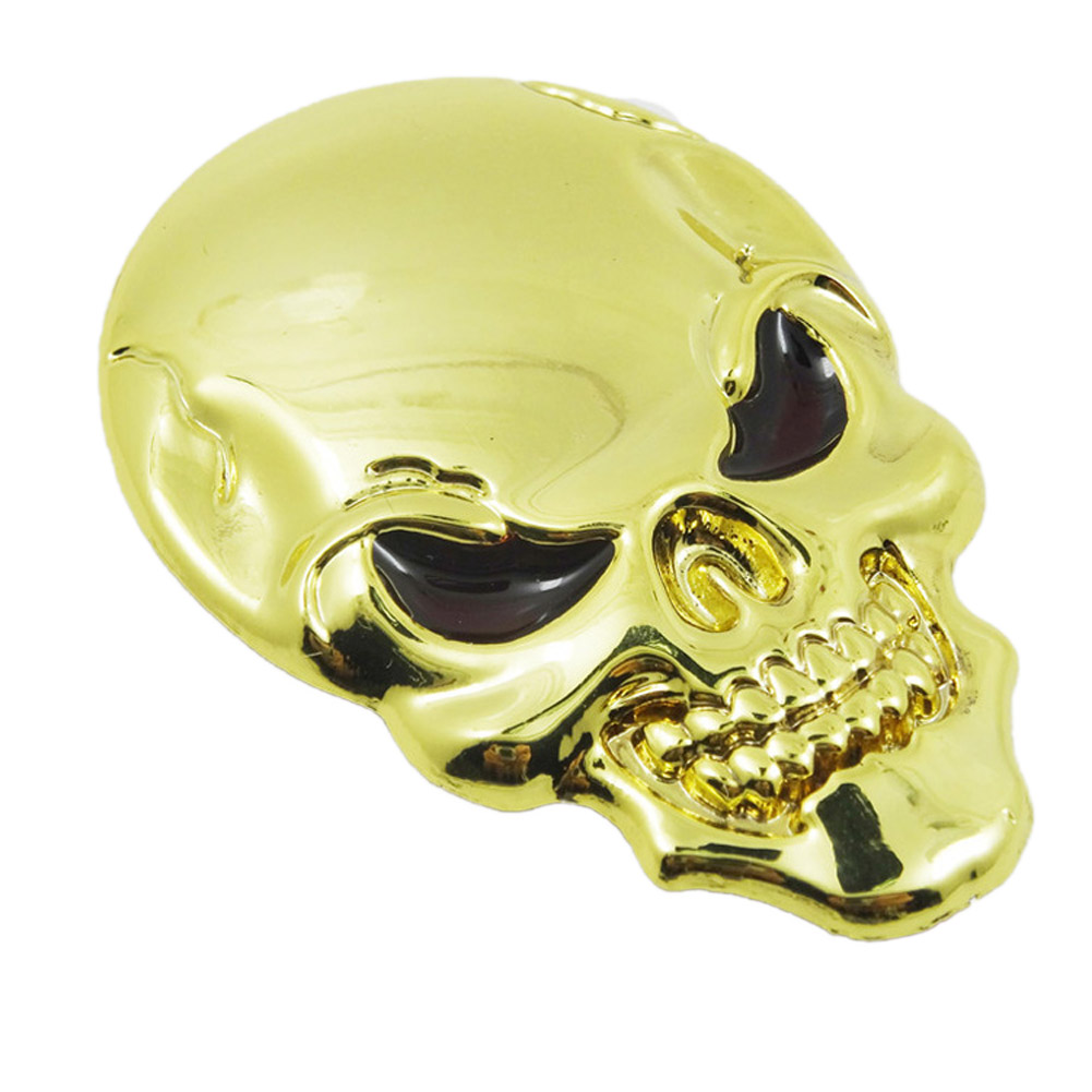 Lovely 3D Metal Skull Hot Sale Usable Decorative Stickers Luxury Car Stickers Beautiful