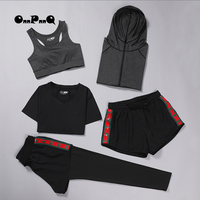 ONNPNNQ Brand Woman 5pcs Yoga set Sport Clothing Breathable Running Set For Female Wholesale Clothing