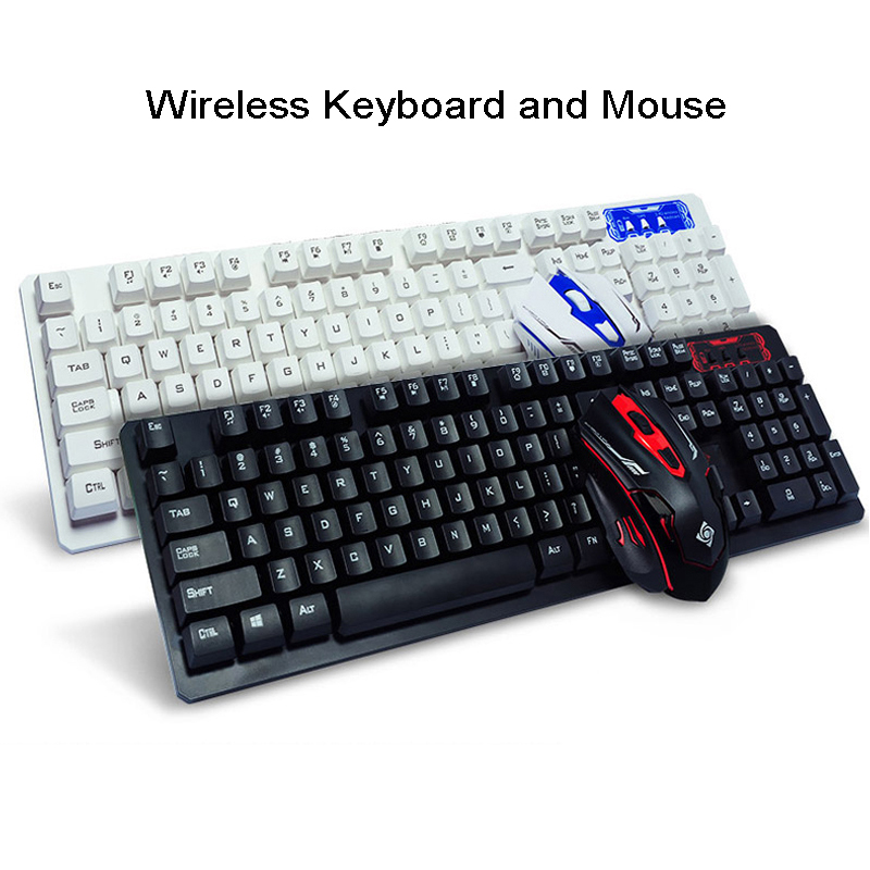 newest 2 4ghz wireless keyboard and mouse mechanical feeling gaming keyboard mouse combo office. Black Bedroom Furniture Sets. Home Design Ideas