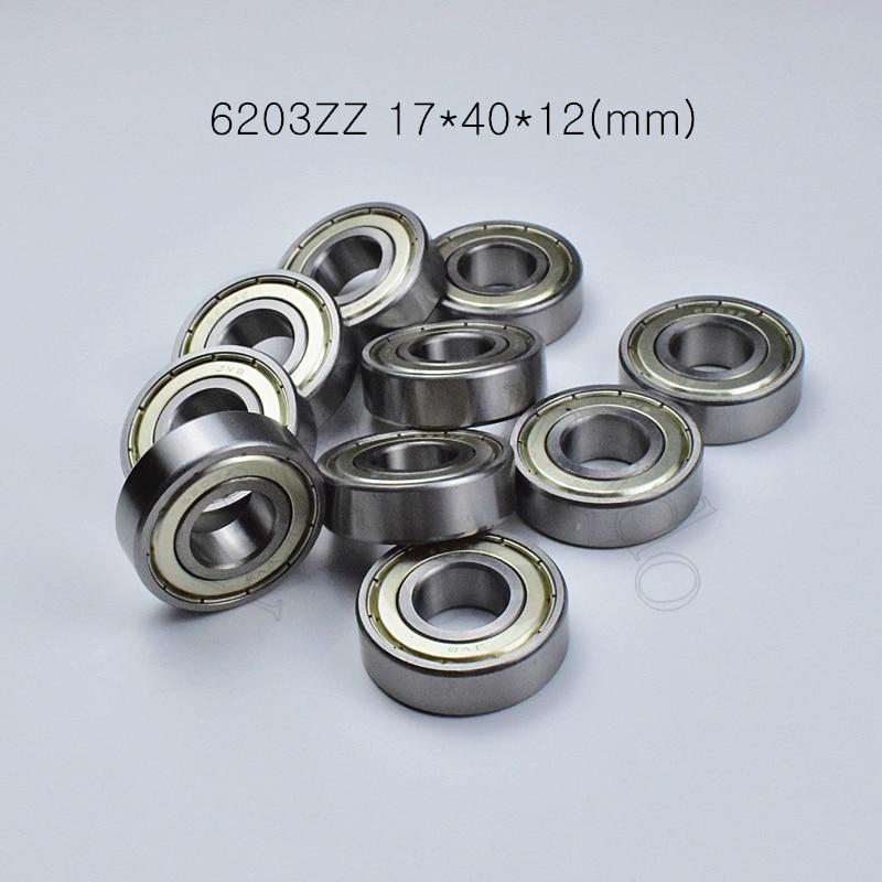 6203ZZ 17*40*12(mm) 1Piece Bearings ABEC-5 Metal Sealing Bearings 6203 6203Z 6203ZZ Chrome Steel  Bearing