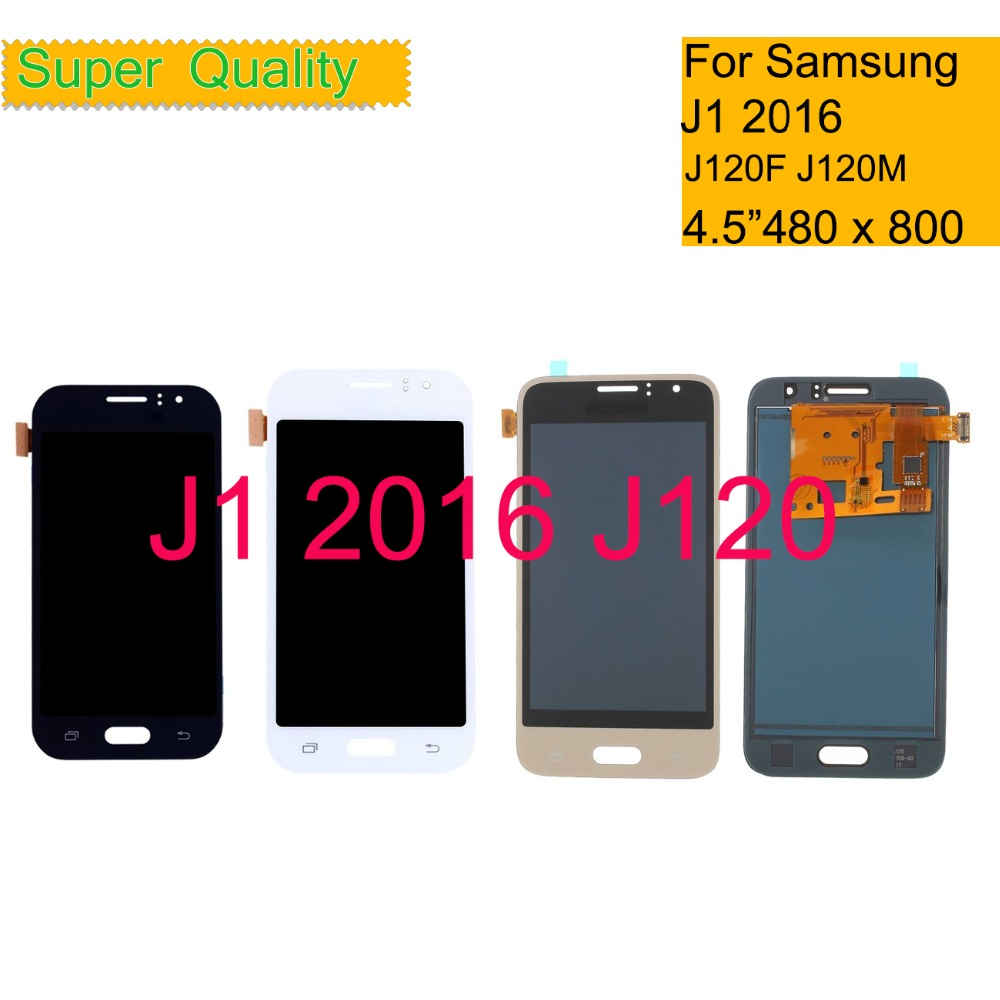10Pcs/lot AMOLED For <font><b>SAMSUNG</b></font> GALAXY J1 2016 J120 <font><b>J120F</b></font> J120M LCD Display <font><b>Touch</b></font> <font><b>Screen</b></font> Digitizer Panel Pantalla LCD Assembly image