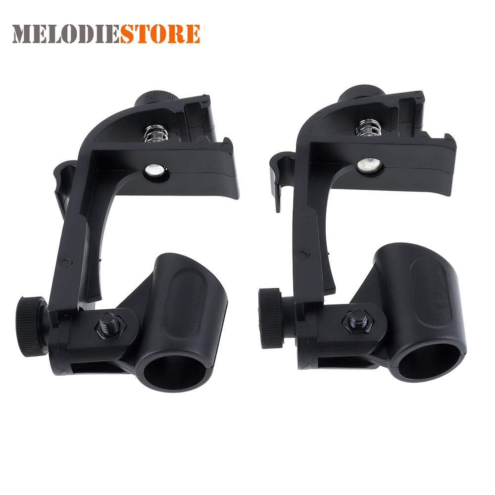 2pcs Adjustable Microphone Clamp Clip Stage Drum Shockproof Mic Mount Holder Studio Stand Percussion Instruments Accessories