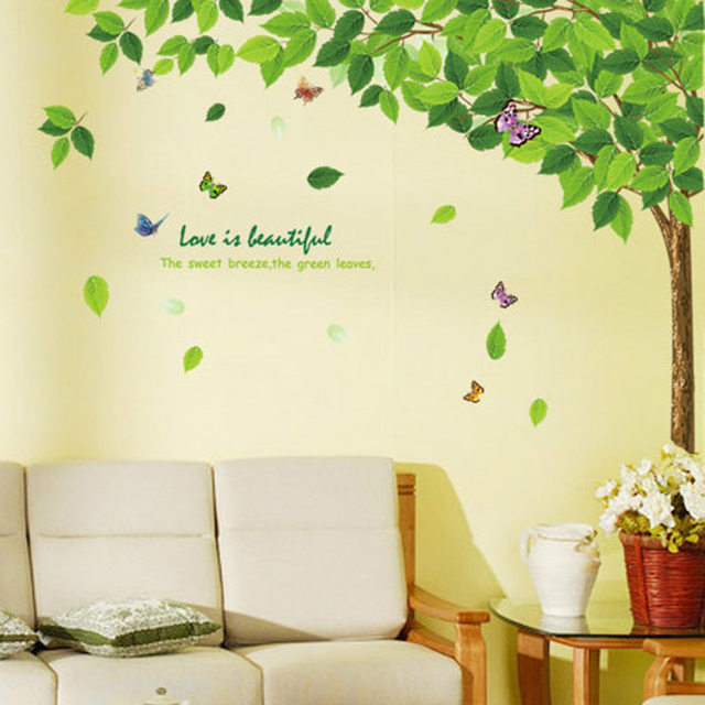 Removable Green Tree Wall Art Sticker Wall Decorations Decor Decals ...