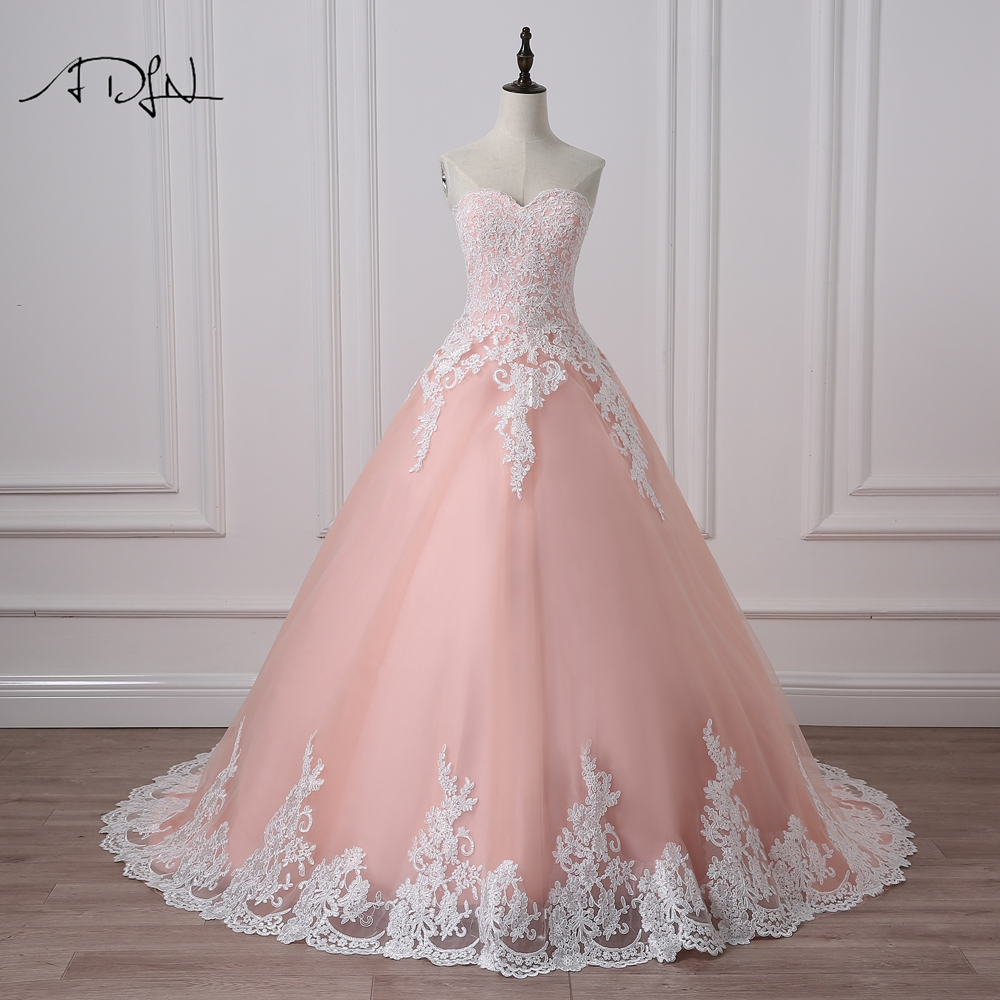 ADLN Ball Gown Quinceanera Dresses with Appliques Sweetheart Tulle Corset Masquerade Debutante Prom Gown