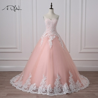 ADLN Ball Gown Quinceanera Dresses With Appliques Sweetheart Tulle Corset Masquerade Debutante Gown 2017