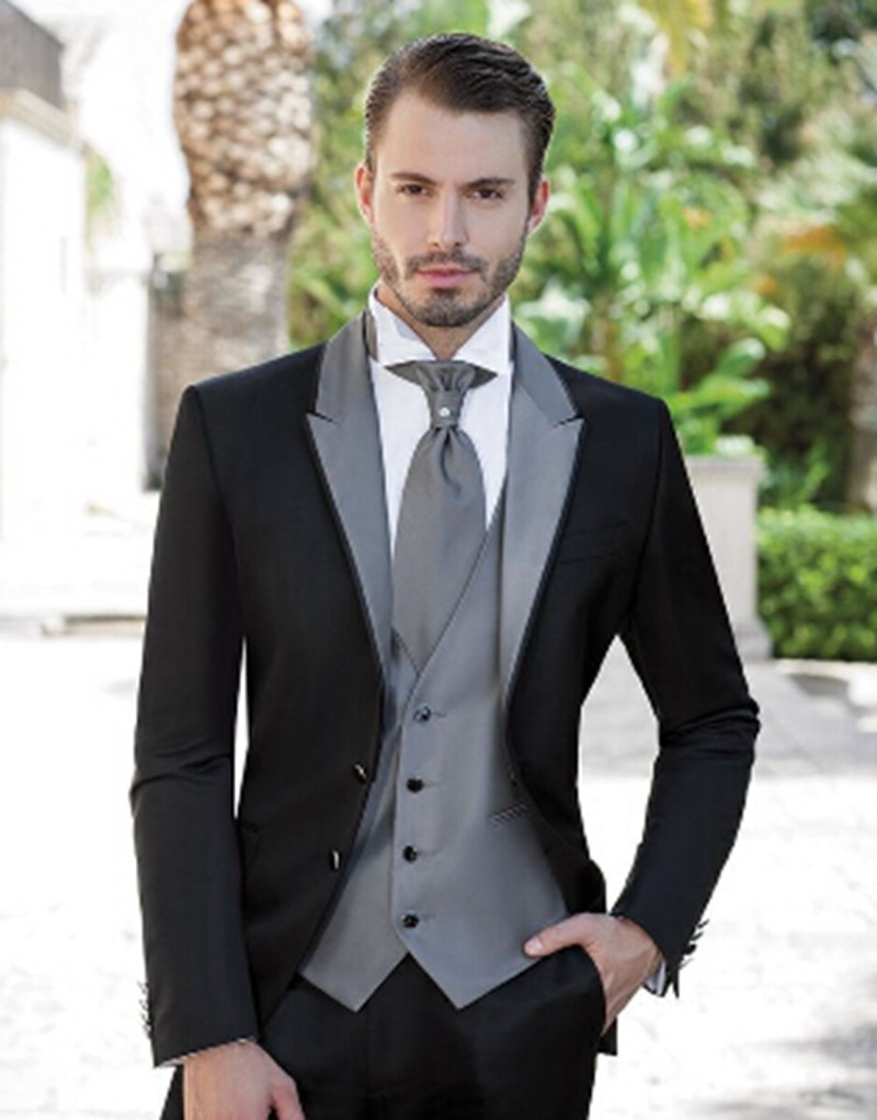 Wedding Men Suit 2015 M 0821 Black Tuxedo Men Suits Slim Fit Suits
