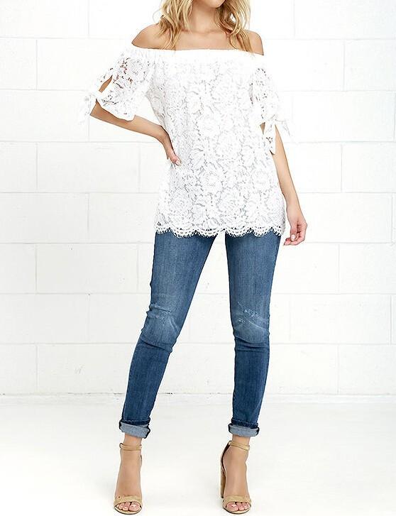 HTB1KyySJVXXXXaDapXXq6xXFXXXH - Women Blouses Lace Crochet Shirts Fashion Summer Sexy Casual
