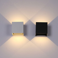 LED Indoor Wall Lamp Home Lighting Decoration Modern light 6W 90-260v Square LED Aluminium wall sconces For Bath Corridor