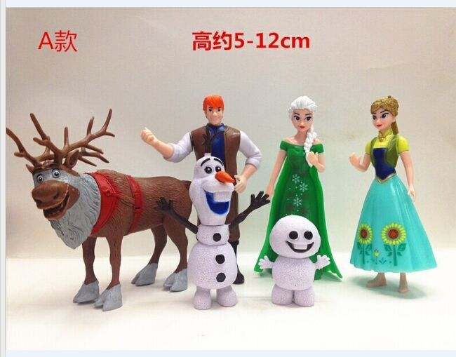Princess toys elsa anna jasmine pvc figures toys dolls for girls gifts