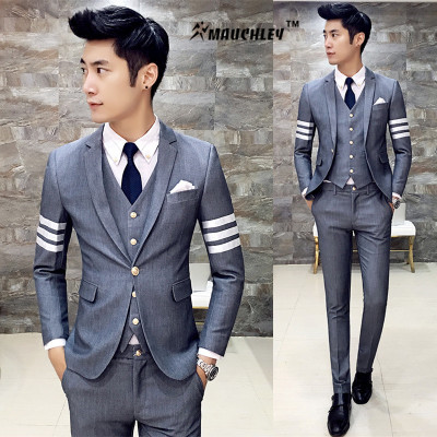 Aliexpress.com : Buy Designer Bridegroom Tuxedo Prom Suits 3 Piece ...