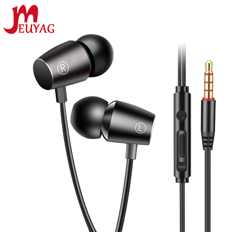 MEUYAG New 3.5mm Mini Wired Earphone High Bass Stereo In-Ear Sport Headset With Mic Earbuds Earphones Fone De Ouvido Auriculares
