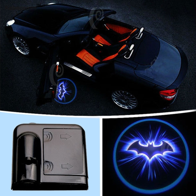 Kebedemm Car Door Welcome Light Car Door Laser LED Light Projector For  Batman Logo Car Interior