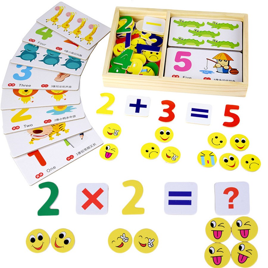 children early education puzzle toys fun digital learning card math ...