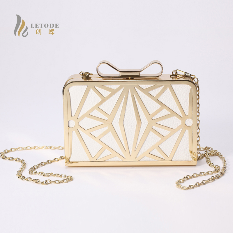 Women Handbags PU Leather Metal Evening Clutch Bag Party Shoulder Bag Messenger & Crossbody Bags Bridal Purses Day Clutches