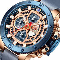 NAVIFORCE New Men Watch Top Brand Luxury Sport Chronograph Military Army Wristwatch Leather Quartz Male Clock Relogio Masculino