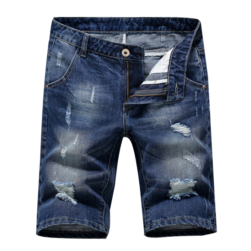 New Fashion Mens Ripped Short Jeans Brand Clothing Bermuda Summer Autumn Cotton Shorts Breathable Hole Denim Shorts Male new mens colors short sleeve cotton tshirt henry kissinger quote absence