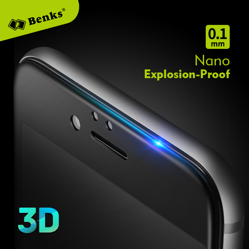 Benks 0.1mm Glass for iPhone 6 6s plus 6Plus 6sPlus Screen Protector PET Explosion Proof 3D Nano Anti Blue Ray Unbreakable Film