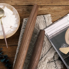 Натуральный Черный грецкий орех Скалка мелкая шлифовка без дополнительного химического покрытия антипригарные инструменты для приготовления выпечки тесто роликовая точка