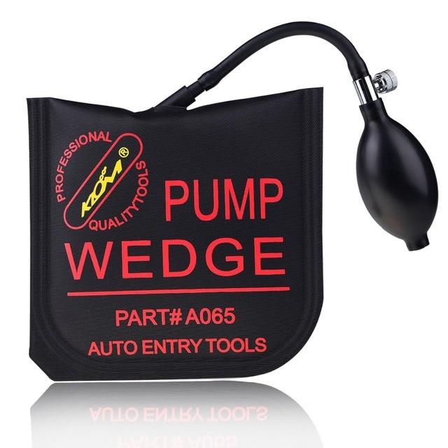 Medium Black Klom Air Pump Wedge Airbag Tools Locksmith Car Door Lock Pick Set PDR Tool Paintless Dent Repair Tool Free Shipping