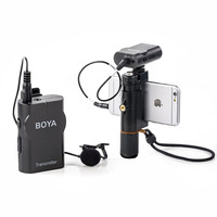 BOYA BY WM4 Professional Wireless Microphone Omnidirectional Lavalier Mic For Canon DSLR Recorder For iPhone 5 6 7 8 Microphones