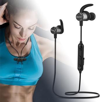Virwir X12 Magnetic Bluetooth In-ear Headset Hands-free Sports Running Earphone with mic Waterproof Bluetooth Headphones